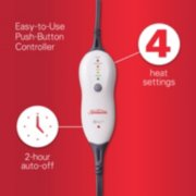 heating pad with easy to use push button controller 4 heat settings and 2 hour auto off image number 6