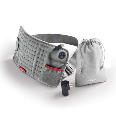 Premium GoHeat™ USB Powered Heating Pad, with Bonus Wall Adapter and Storage Bag, Gray