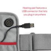 GoHeat™ USB Powered Heating Pad, Gray image number 2