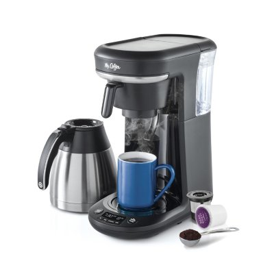 Mr. Coffee® Pod + 10-Cup Space-Saving Combo Brewer
