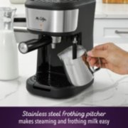Mr. Coffee® 4-Shot Steam Espresso, Cappuccino, and Latte Maker with Stainless Steel Frothing Pitcher image number 4