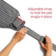 adjustable strap to hold the pad snugly in place image number 4