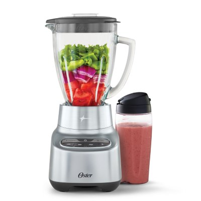 Oster® 2-in-1 Blender System with Blend-n-Go™ Cup and 6-Cup Boroclass® Jar