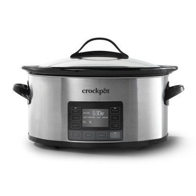 Crockpot™ 6-Quart Slow Cooker with MyTime™ Technology, Programmable Slow Cooker, Stainless Steel