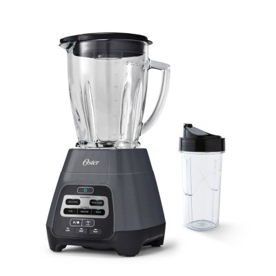 Oster® Master Series Blender with Texture Select Settings,  Blend-N-Go Cup and Glass Jar, Grey