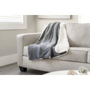 Microplush Reverse Sherpa Heated Throw image number 4