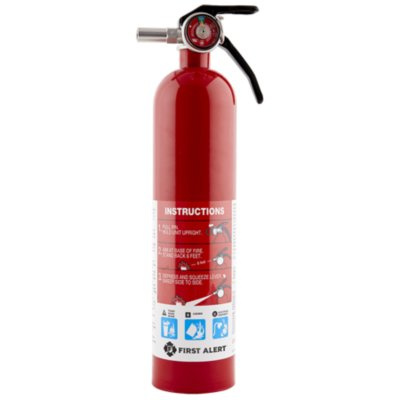 Rechargeable Home Fire Extinguisher UL Rated 1-A:10-B:C (Red)