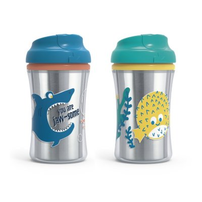 Insulated Cup-Like Rim Sippy Cup, 2 Pack