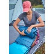 compact sleeping bag setup inside tent image number 6