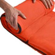 coleman kompact rectangular sleeping bag rolling up image number 3