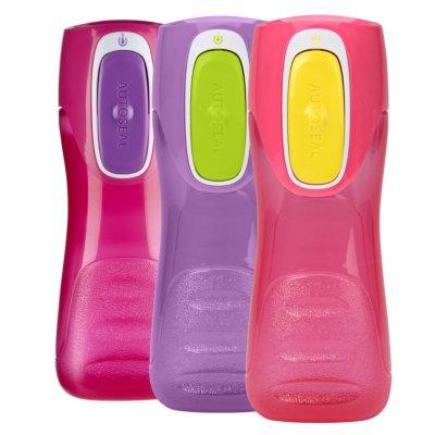 Trekker Kids Watter Bottle with AUTOSEAL® Lid, 14oz, 3-pack