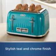 4 slice toaster in teal image number 1