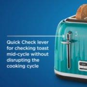 4 slice toaster in teal image number 2