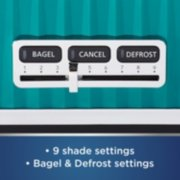 Oster® 4 Slice Toaster with Textured Design and Chrome Accents, Impressions Collection, Teal image number 4