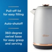 Oster® Electric Kettle, Metropolitan Collection with Rose Gold Accents  image number 2