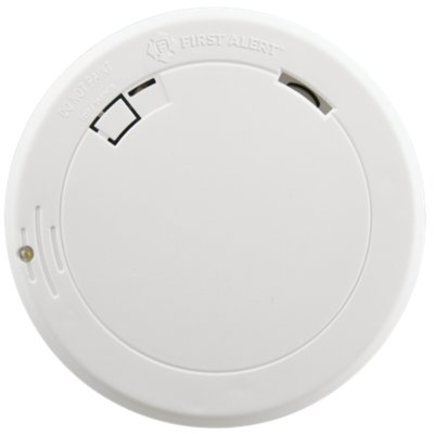 10-Year Battery Photoelectric Smoke Alarm, Slim Profile with Safety Path Light