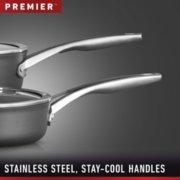 Calphalon Premier™ Hard-Anodized Nonstick 7-Quart Sauteuse & Cover image number 3