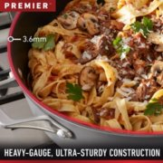 Calphalon Premier™ Space-Saving Hard-Anodized Nonstick Cookware, 12-Quart Stock Pot with Cover image number 3