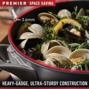 Calphalon Premier™ Space-Saving Hard-Anodized Nonstick Cookware, 12-Inch Round Grill Pan image number 3