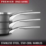Calphalon Premier™ Space-Saving Hard-Anodized Nonstick Cookware, 10-Piece Set image number 4