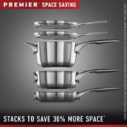 Calphalon Premier™ Space-Saving Stainless Steel 10-Piece Set image number 1