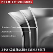 Calphalon Premier™ Space-Saving Stainless Steel 10-Piece Set image number 2