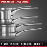 Calphalon Premier™ Space-Saving Stainless Steel 10-Piece Set image number 3