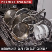 Calphalon Premier™ Space-Saving Stainless Steel 10-Piece Set image number 4