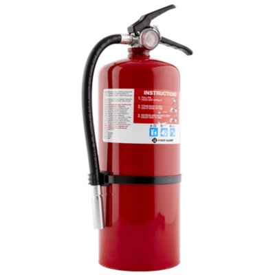 Rechargeable Commercial Fire Extinguisher UL rated 4-A:60-B:C (Red)