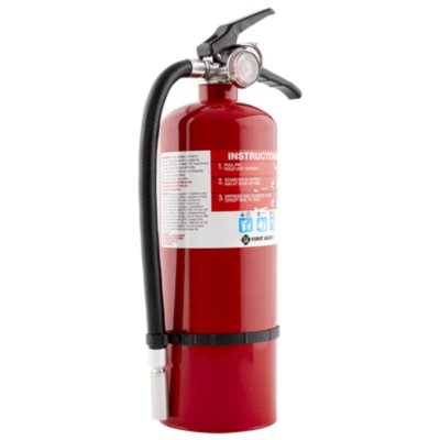 Rechargeable Heavy Duty Plus Fire Extinguisher UL rated 3-A:40-B:C (Red)
