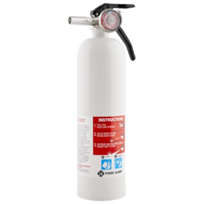 Rechargeable Recreation Fire Extinguisher UL Rated 5-B:C (White)