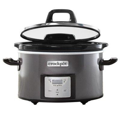 Crockpot™ 4-Qt. Digital Countdown Slow Cooker with Hinged Lid, Metallic Charcoal