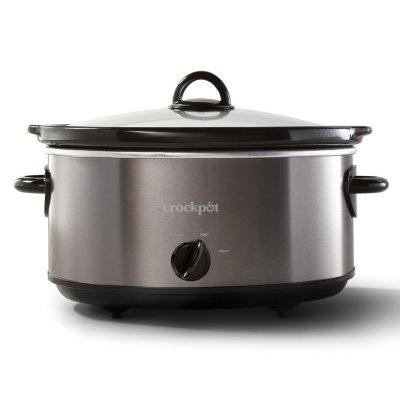 Crockpot™ 6-Quart Manual Slow Cooker - Black/Stainless Steel