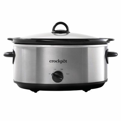Crockpot™ 7-Quart Slow Cooker, Manual, Stainless Steel