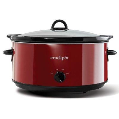 Crockpot™  8-Quart Slow Cooker, Manual, Red Polished