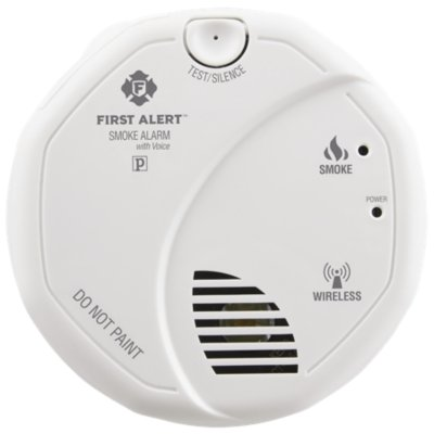 Interconnected Wireless Smoke Alarm with Voice Location, Battery Operated