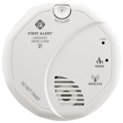Interconnected Smoke Alarm with Hardwire Adapter Included