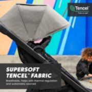 supersoft tencel fabric breathable, helps with thermal regulation and sustainably sourced baby stroller image number 4