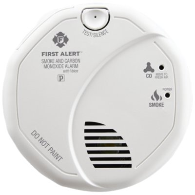 Hardwired Talking Photoelectric Smoke and Carbon Monoxide Alarm