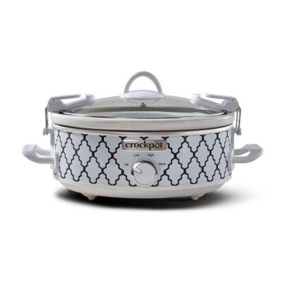 Crockpot™ 2.5-Quart Casserole Crock™ Slow Cooker, Manual, Oval, White/Blue Pattern