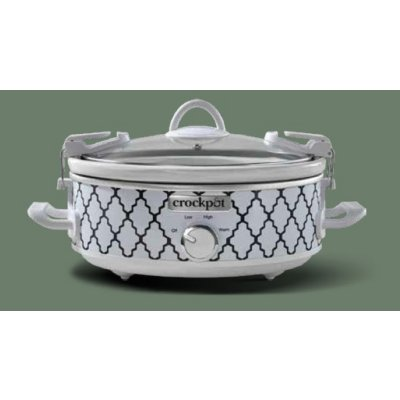 Crockpot™ 2.5-Quart Casserole Crock™ Slow Cooker, Manual, Oval, White/Blue Pattern