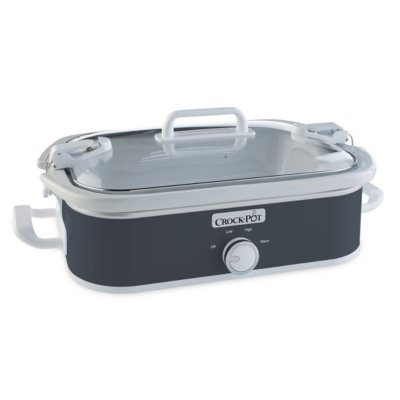 Crockpot™ 3.5-Quart Casserole Crock™ Slow Cooker, Manual, Charcoal