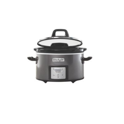 Crockpot™ 4-Qt. Digital Countdown Slow Cooker with Hinged Lid, Metallic Charcoal