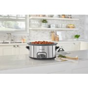 Crockpot™ 7-Quart Slow Cooker, Programmable, Stainless Steel with Little Dipper® Food Warmer image number 4