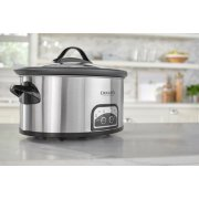 Crockpot™ 7-Quart Slow Cooker, Programmable, Stainless Steel with Little Dipper® Food Warmer image number 2