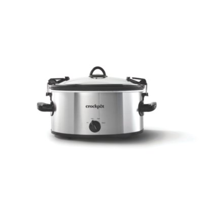 Crockpot™ 6-Quart Cook & Carry™ Slow Cooker, Manual, Silver
