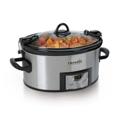 Crockpot™ 6.0-Quart Cook & Carry™ Slow Cooker, Programmable, Stainless Steel