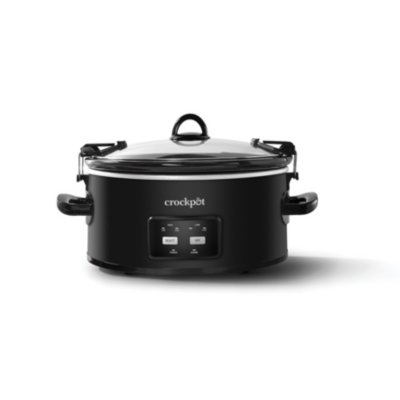 Crockpot™ 6-Quart Cook & Carry Slow Cooker, One-Touch Control, Matte Black