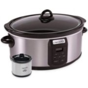 Crockpot™ 7-Quart Slow Cooker, Programmable, Stainless Steel with Little Dipper® Food Warmer image number 0