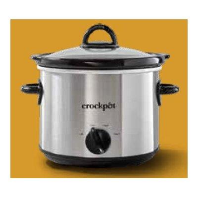 Crockpot™ 3-Quart Slow Cooker, Manual, Silver